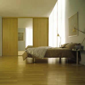Modern Wardrobe Siding Doors in Pearwood